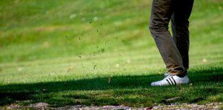 caduta sul campo da golf